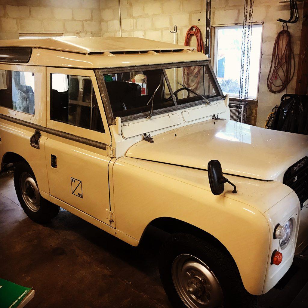 "Land Rover Series 3 Santana 88"" 1977 before a Rad Rovers restoration"